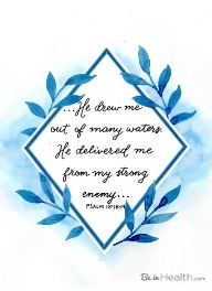 Psalm 18:16-17 Out of Many Waters Scripture Art
