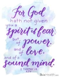 "FREE Printable Scripture Art Download- Bring the Encouragement of the Word of God into your home - 2 Timothy 1:7 ""For God hath not given you a spirit of fear; but of power, and of love, and of a sound mind."""