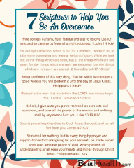 "FREE Printable Scripture Art ""7 Scriptures to Help You Overcome"""