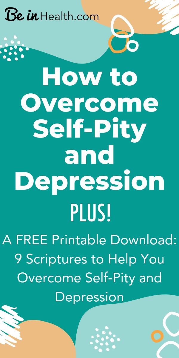 Uncover patterns of thinking that you never realized were keeping you from your healing- discover Biblical insights into how to overcome self-pity and depression.
