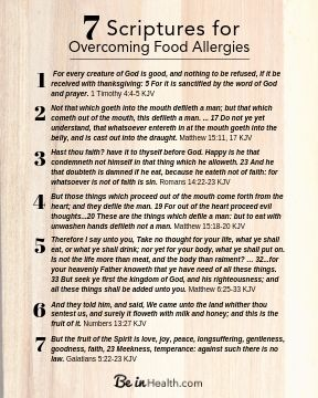 FREE Printable Scripture Download: 7 Scriptures for Overcoming Food Allergies