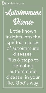 Did you know that every type of autoimmune disease holds something in common? Discover the spiritual root causes of autoimmune diseases as well as real solutions to overcoming autoimmune disease. Don