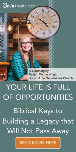 Find Biblical insights into building a lasting legacy through this inspirational teaching by Pastor Donna Wright. You are sure to be encouraged and find a new perspective on how to navigate life's journey successfully.