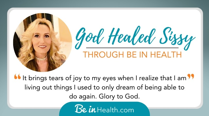 God Delivered Sissy from the Occult, Saved Her, and Healed Her Spirit and Body Through The Biblical Truth That She Learned at Be in Health.