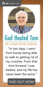 Tom had a rare type of Bone Disease called tumor-induced osteomalacia. His bones were breaking and fraying. Then he found Be in Health and Tom learned God's truth for his life and health and was healed! Read his testimony here and find hope for your life too!