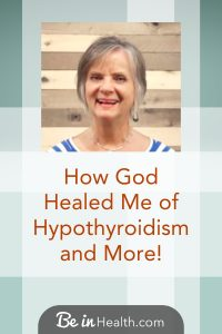 When Pam cried out to God, He met her in a far deeper way than she could have imagined. Read her testimony of how God healed her hypothyroidism and depression but also did something even more profound in her life through the Biblical insights she learned at Be in Health.