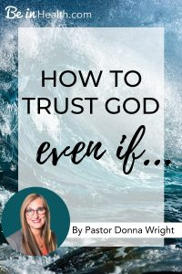 Trusting Him is not complicated, in fact, it is very simple. Everything becomes easier when you just let yourself go and learn how to trust God, even if...