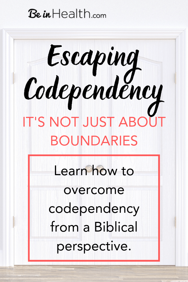 Escaping codependency is more than just establishing boundaries. Discover the root issue behind codependency and learn how to be set free through God's truth and love today!