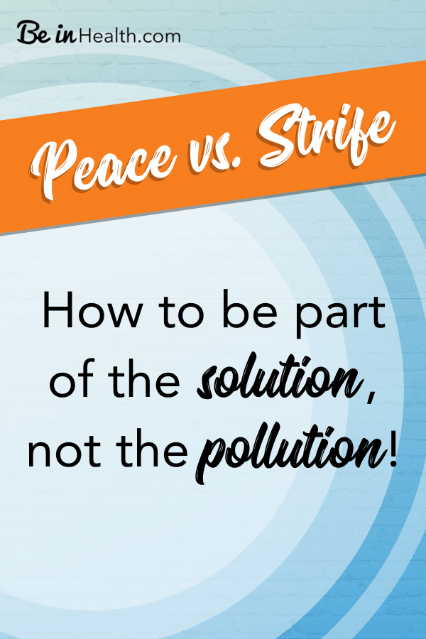 We see the workings of strife all around us but what can we do? Learn how to be a part of the solution starting in your home and then extending to the world around you.