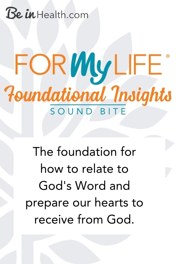 At Be in Health, we are dedicated to the healing, eradication, and prevention of all spiritual, psychological and biological disease. The foundational insights teaching from our For My Life Retreat is the first step to preparing your heart to receive what God has prepared for you.