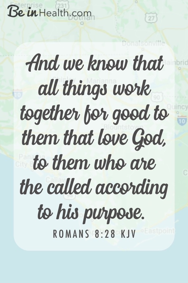 God wants to bless you and help you! Romans 8:28 says: All things work together for good to those who love God and are called according to his purpose.