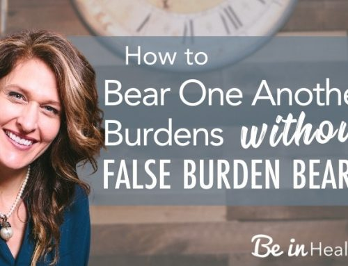 How to Bear One Another's Burdens Without False Burden Bearing