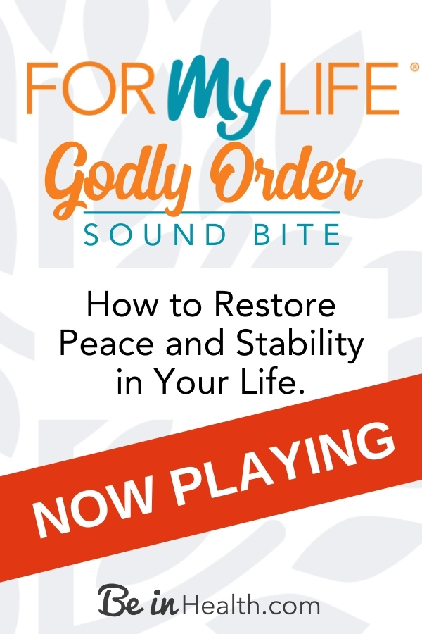 God's order for the family lays a foundation for stability and peace in the home. Learn how to recover Godly order in your life.