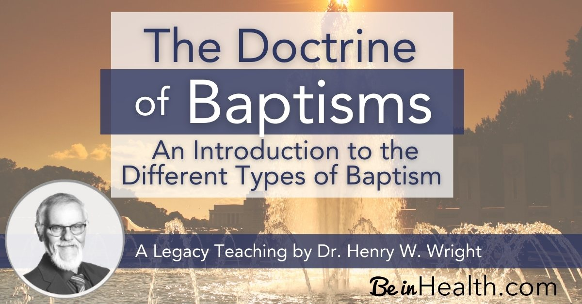 An introduction to the four different types of baptism: water baptism, the baptism of the Holy Spirit, baptism of fire, and baptism into the Body of Christ.